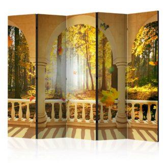 Paraván Dream About Autumnal Forest Dekorhome 225x172 cm (5-dílný)