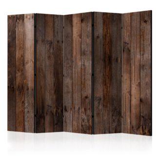 Paraván Wooden Hut Dekorhome 225x172 cm (5-dílný)