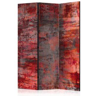 Paraván Red Metal Dekorhome 135x172 cm (3-dílný)