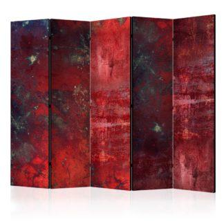 Paraván Red Concrete Dekorhome 225x172 cm (5-dílný)