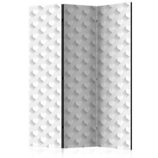 Paraván Grey Hearts Dekorhome 135x172 cm (3-dílný)