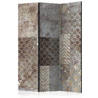 Paraván Geometric Textures Dekorhome 135x172 cm (3-dílný)