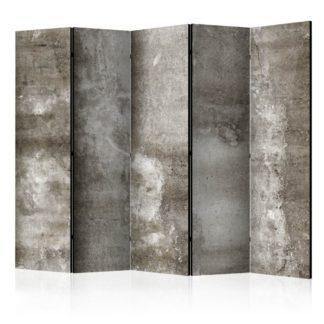 Paraván Cold Concrete Dekorhome 225x172 cm (5-dílný)