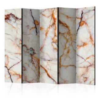 Paraván Marble Plate Dekorhome 225x172 cm (5-dílný)