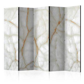 Paraván White Marble Dekorhome 225x172 cm (5-dílný)
