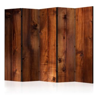 Paraván Pine Board Dekorhome 225x172 cm (5-dílný)
