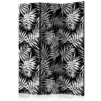 Paraván Black and White Jungle Dekorhome 135x172 cm (3-dílný)