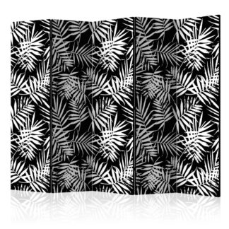 Paraván Black and White Jungle Dekorhome 225x172 cm (5-dílný)