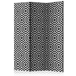 Paraván Black and White Hypnosis Dekorhome 135x172 cm (3-dílný)