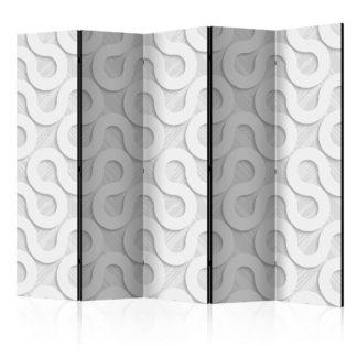 Paraván Grey Spirals Dekorhome 225x172 cm (5-dílný)