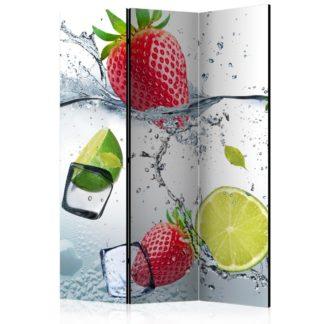 Paraván Fruit cocktail Dekorhome 135x172 cm (3-dílný)