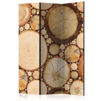 Paraván Wood grains Dekorhome 135x172 cm (3-dílný)