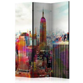 Paraván Colors of New York City Dekorhome 135x172 cm (3-dílný)