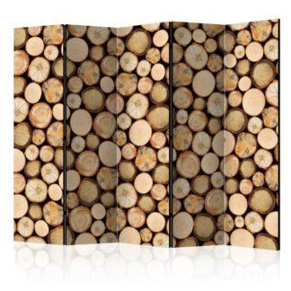 Paraván In sawmill Dekorhome 225x172 cm (5-dílný)