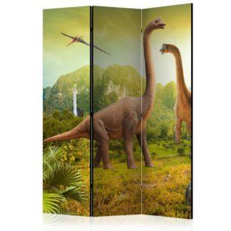Paraván Dinosaurs Dekorhome 135x172 cm (3-dílný)