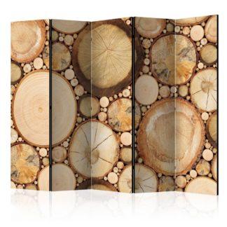 Paraván Wood grains Dekorhome 225x172 cm (5-dílný)