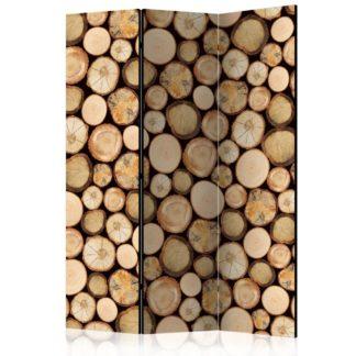 Paraván In sawmill Dekorhome 135x172 cm (3-dílný)