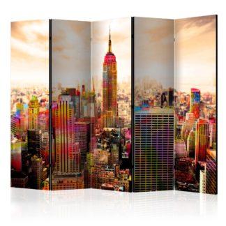 Paraván Colors of New York City III Dekorhome 225x172 cm (5-dílný)