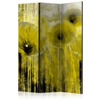 Paraván Yellow madness Dekorhome 135x172 cm (3-dílný)