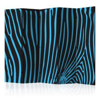 Paraván Zebra pattern (turquoise) Dekorhome 225x172 cm (5-dílný)