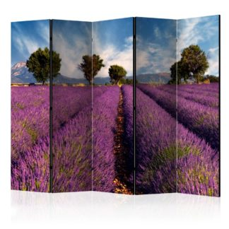 Paraván Lavender field in Provence, France Dekorhome 225x172 cm (5-dílný)