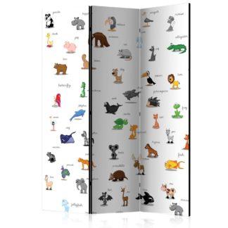 Paraván animals (for children) Dekorhome 135x172 cm (3-dílný)