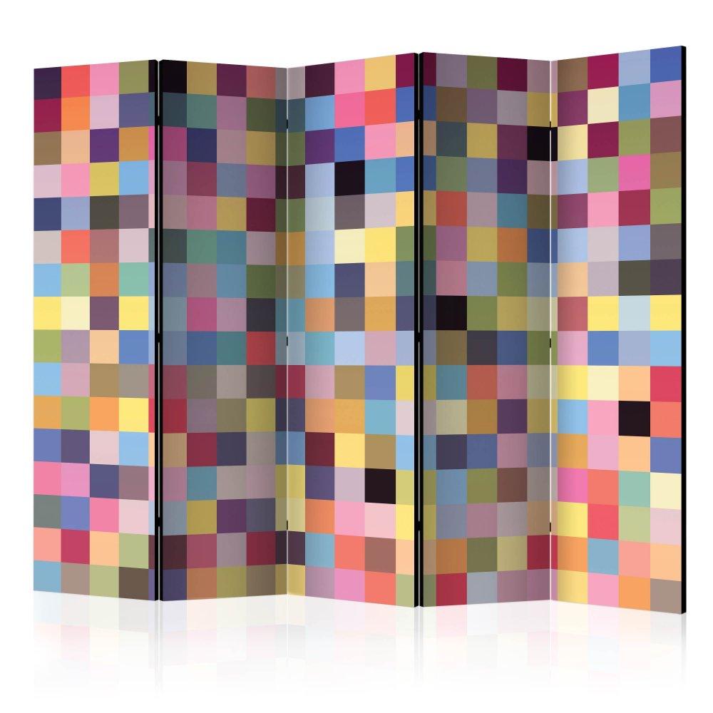 Paraván Full range of colors Dekorhome 225x172 cm (5-dílný)