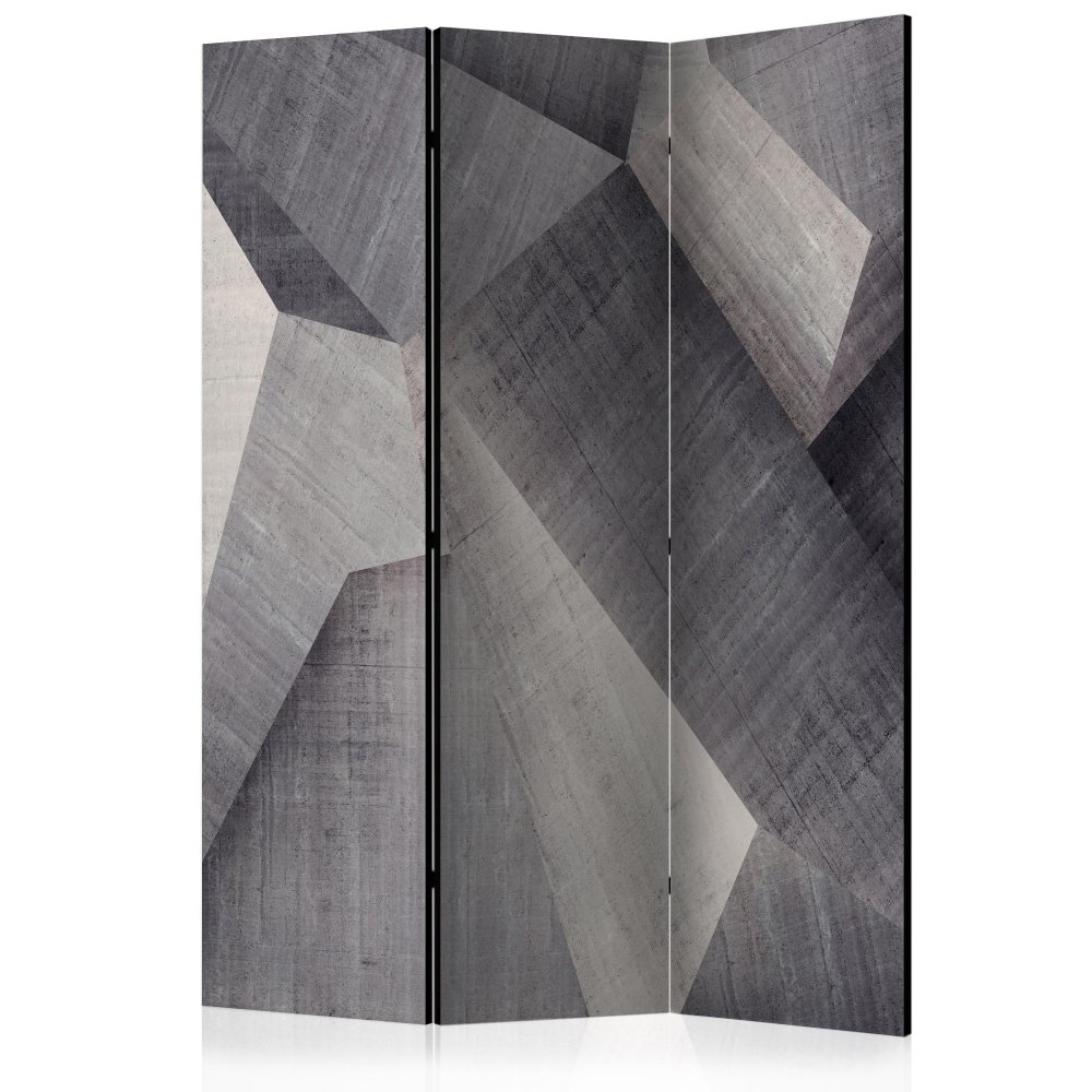 Paraván Abstract concrete blocks Dekorhome 135x172 cm (3-dílný)