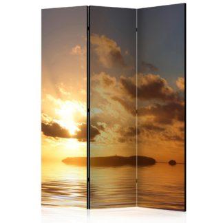 Paraván Sea sunset Dekorhome 135x172 cm (3-dílný)