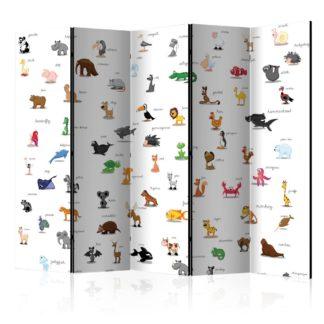 Paraván animals (for children) Dekorhome 225x172 cm (5-dílný)