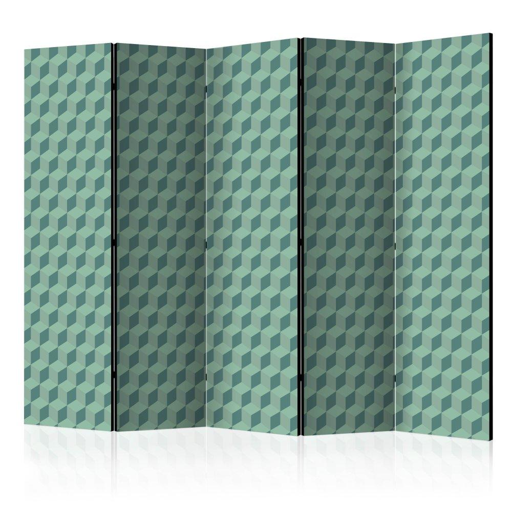 Paraván Monochromatic cubes Dekorhome 225x172 cm (5-dílný)