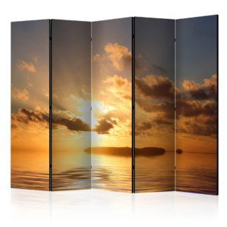 Paraván Sea sunset Dekorhome 225x172 cm (5-dílný)