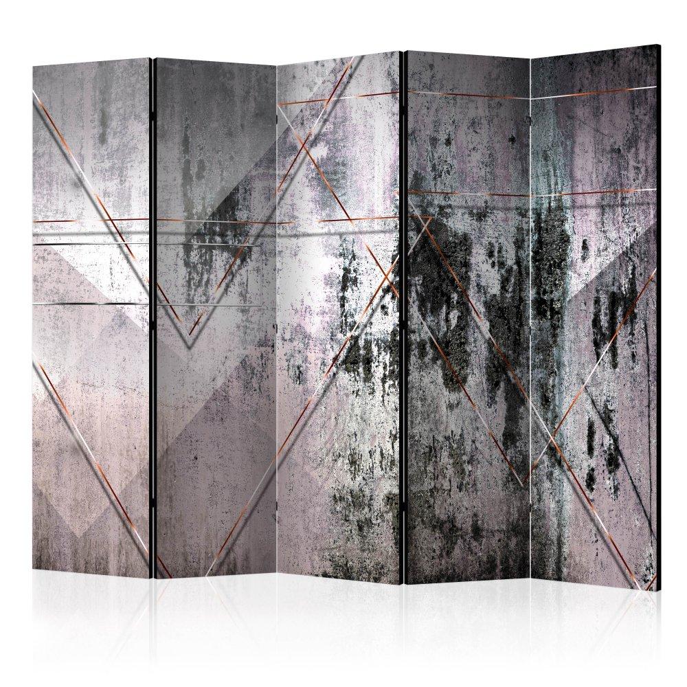 Paraván Geometric Wall Dekorhome 225x172 cm (5-dílný)