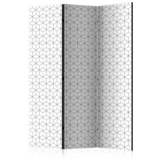 Paraván Cubes texture Dekorhome 135x172 cm (3-dílný)
