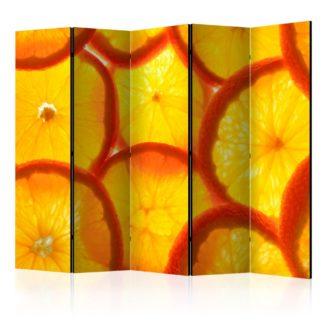 Paraván Orange slices Dekorhome 225x172 cm (5-dílný)