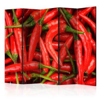 Paraván Chili pepper - background Dekorhome 225x172 cm (5-dílný)