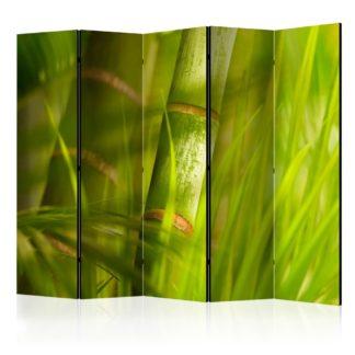 Paraván Bamboo - nature zen Dekorhome 225x172 cm (5-dílný)