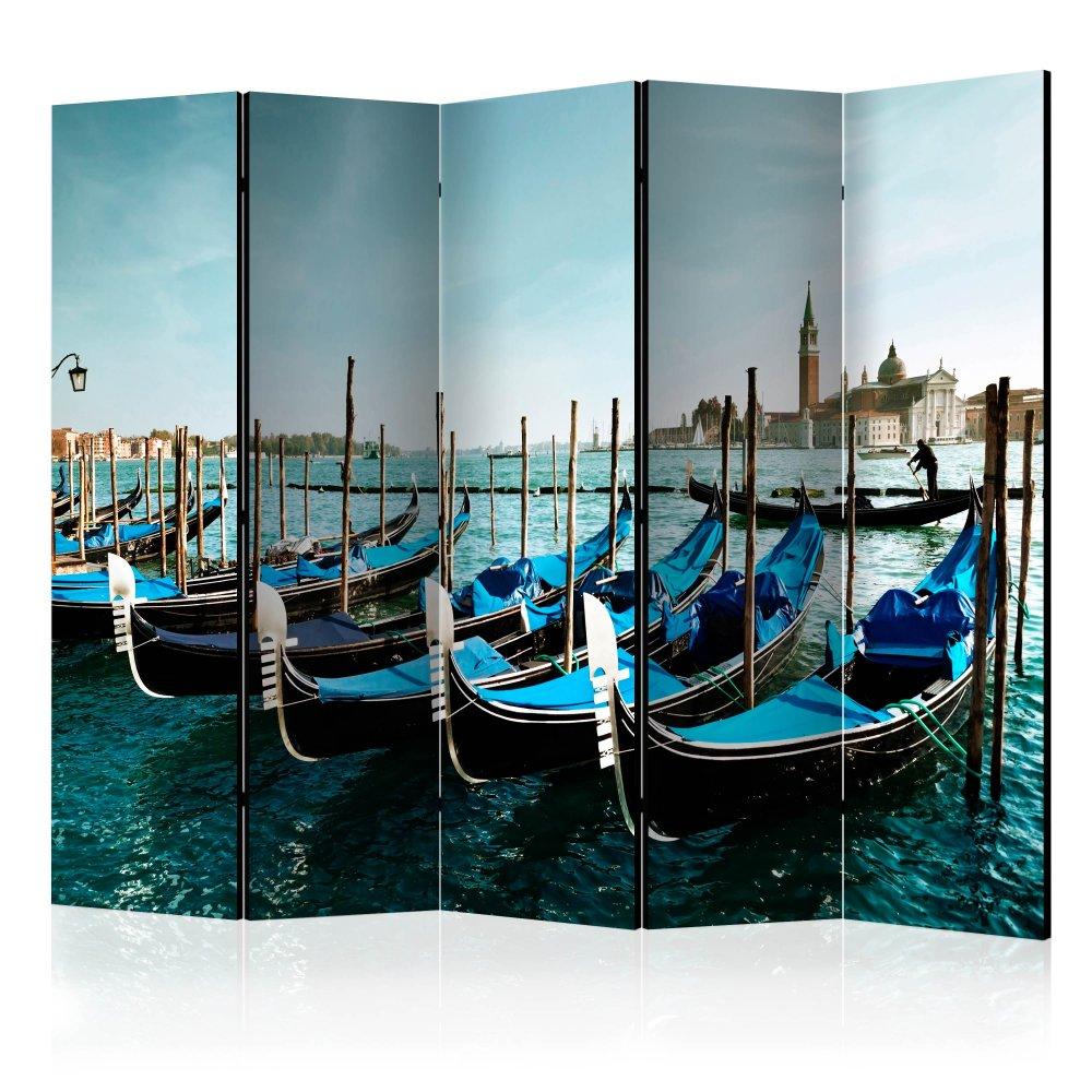 Paraván Gondolas on the Grand Canal Venice Dekorhome 225x172 cm (5-dílný)