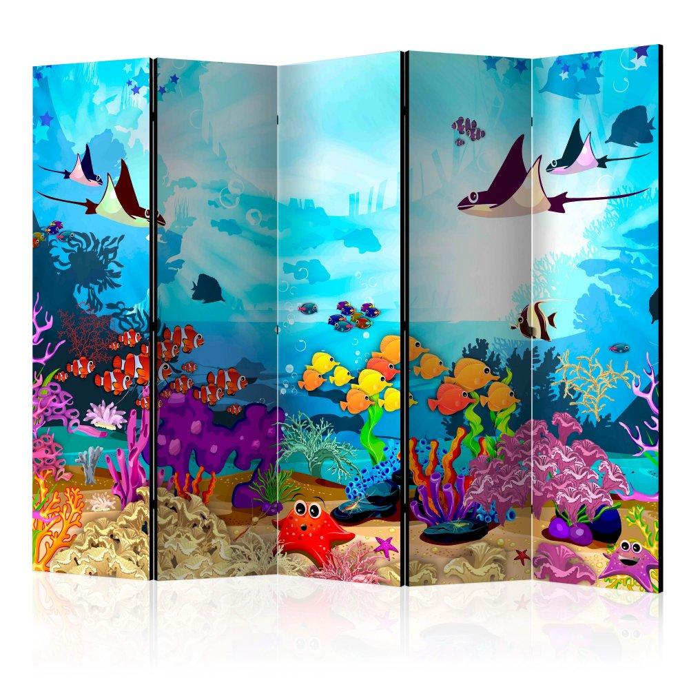 Paraván Underwater Fun Dekorhome 225x172 cm (5-dílný)