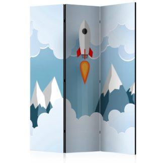 Paraván Rocket in the Clouds Dekorhome 135x172 cm (3-dílný)