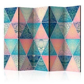 Paraván Oriental Triangles Dekorhome 225x172 cm (5-dílný)