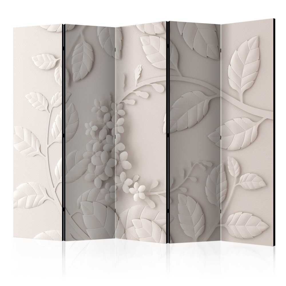 Paraván Paper Flowers (Cream) Dekorhome 225x172 cm (5-dílný)