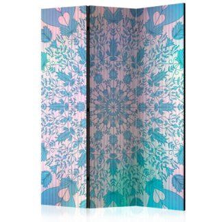 Paraván Girly Mandala (Blue) Dekorhome 135x172 cm (3-dílný)