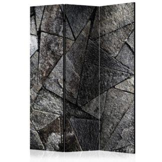 Paraván Pavement Tiles (Grey) Dekorhome 135x172 cm (3-dílný)