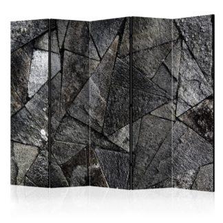 Paraván Pavement Tiles (Grey) Dekorhome 225x172 cm (5-dílný)