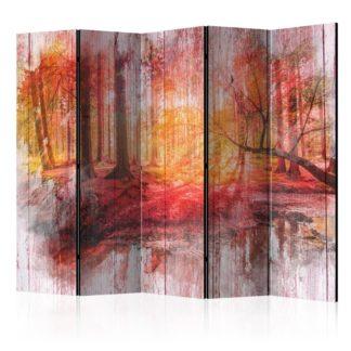 Paraván Autumnal Forest Dekorhome 225x172 cm (5-dílný)