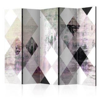 Paraván Rhombic Chessboard (Pink) Dekorhome 225x172 cm (5-dílný)