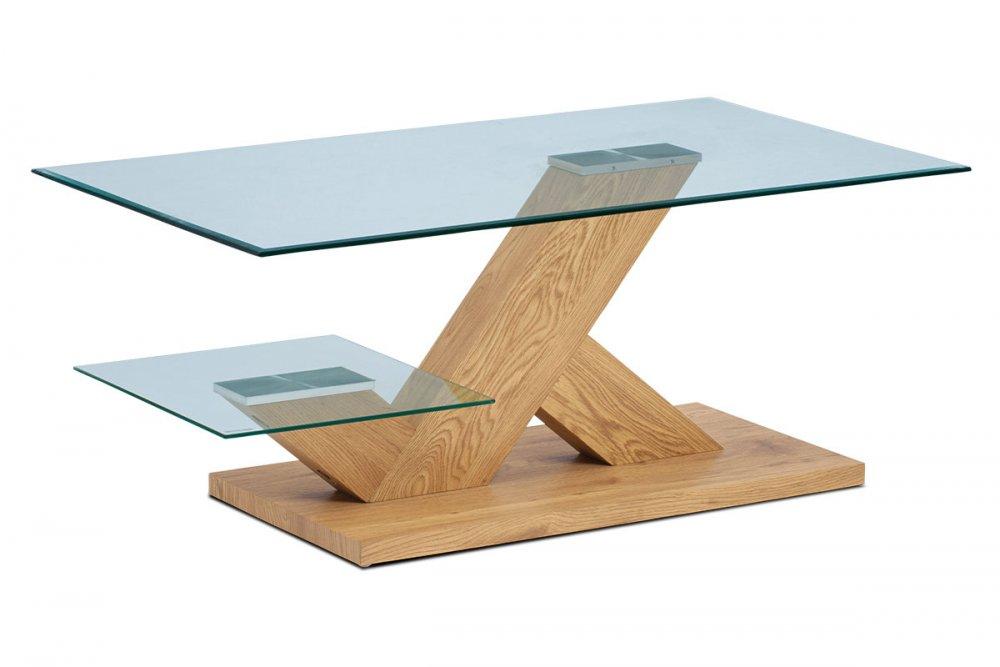 Konferenční stolek AHG-388 OAK sklo / divoký dub Autronic