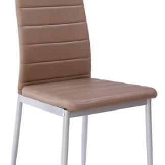 Jídelní židle Zita, šedo-hnědá ekokůže