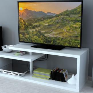 Konferenční stolek/TV stolek/regál AS-54, bílý